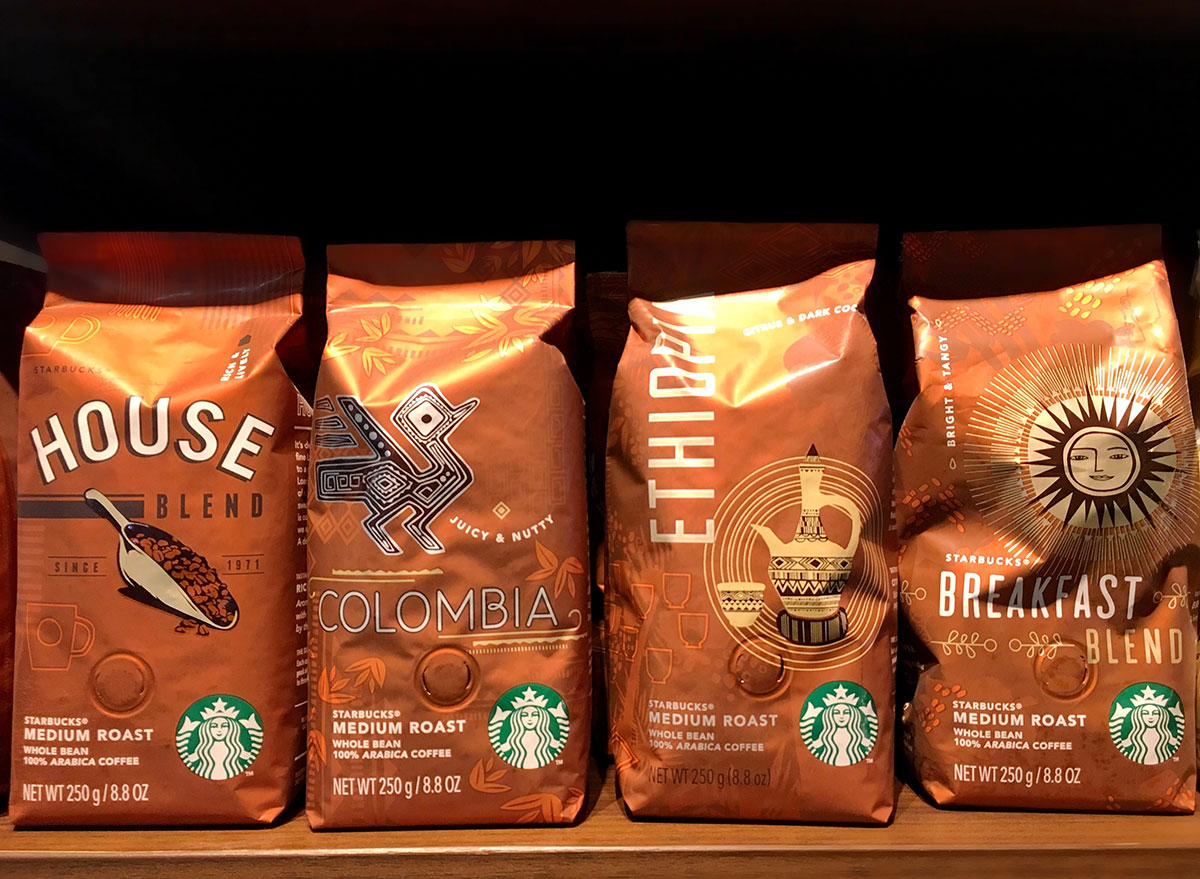 Starbucks bag of coffee beans