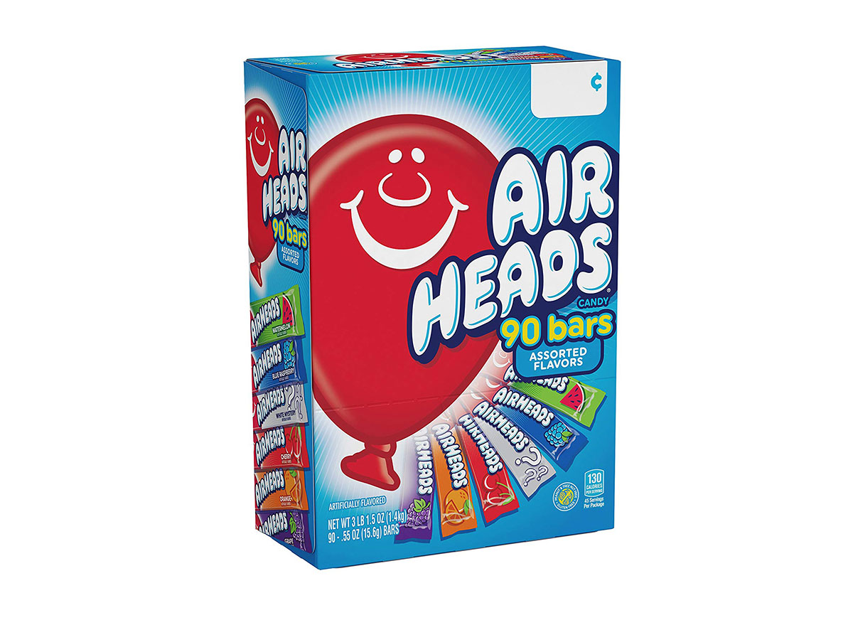 variety box of airheads candy