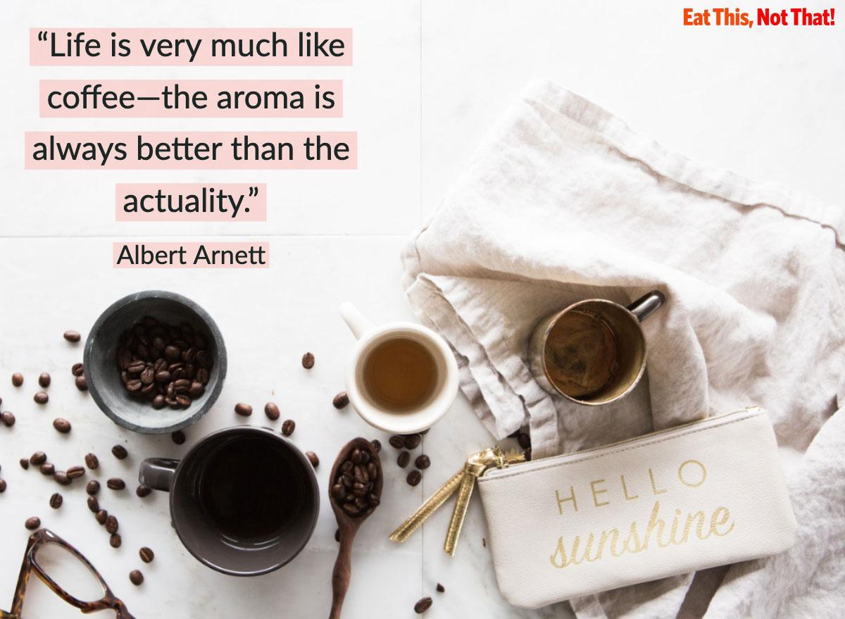 coffee quote albert arnett