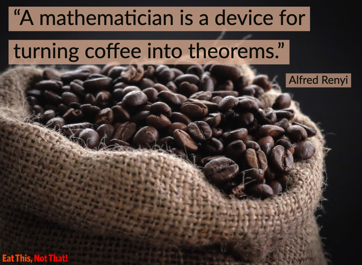 coffee quote alfred renyi
