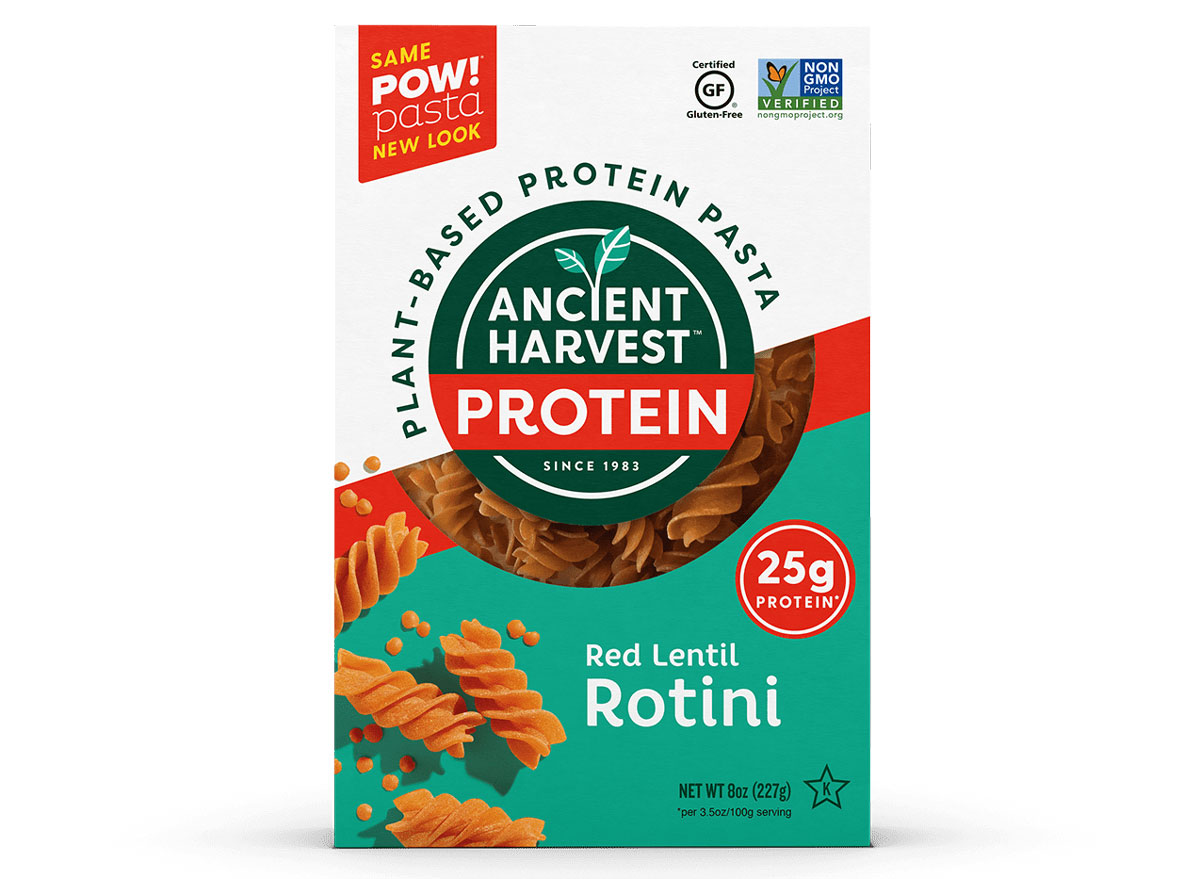 Red lentil ancient harvest protein pasta
