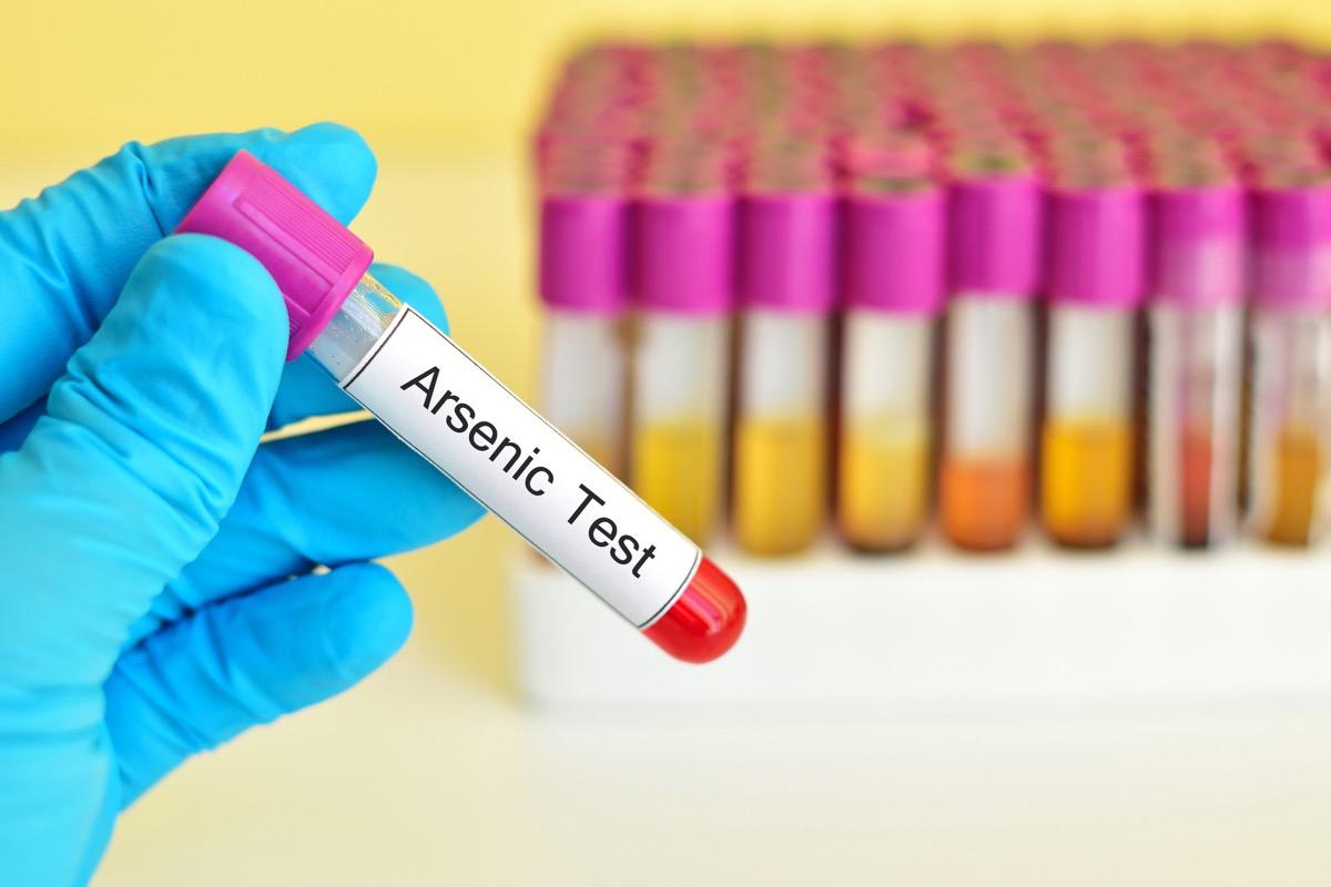 Blood sample for arsenic (As) metal test