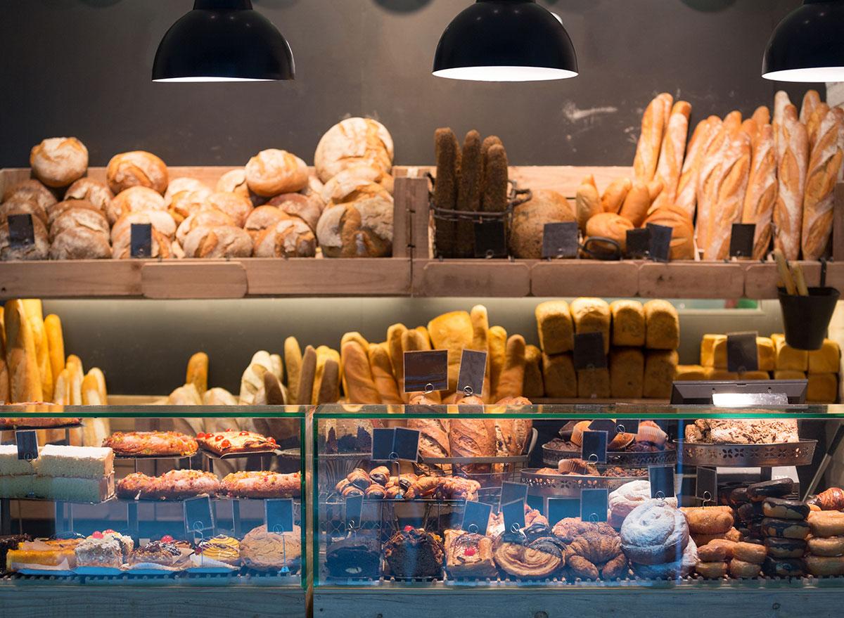 bakery stock photo window selection