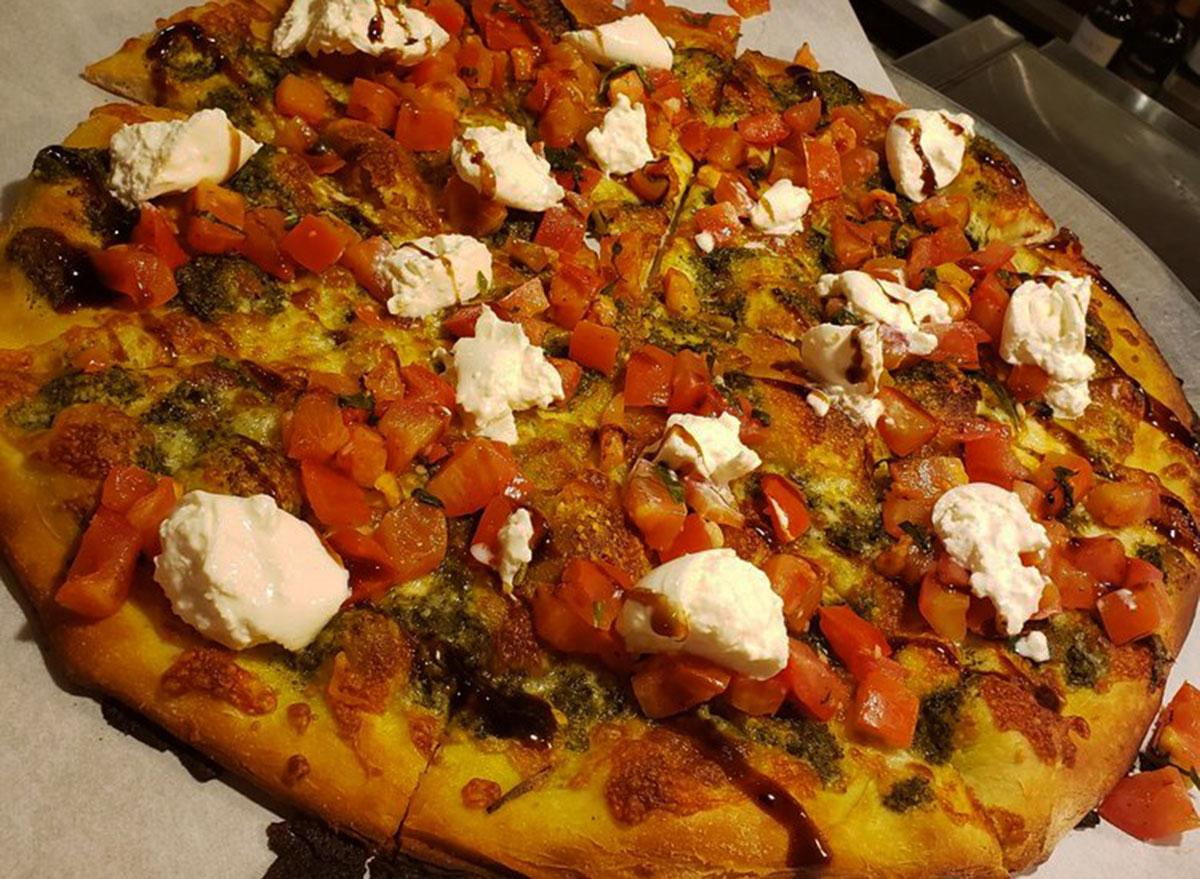 bertuccis bruschetta and burrata pizza
