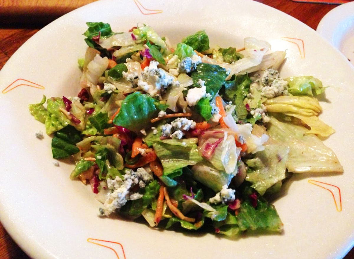 blue cheese pecan chopped salad from outback steakhouse