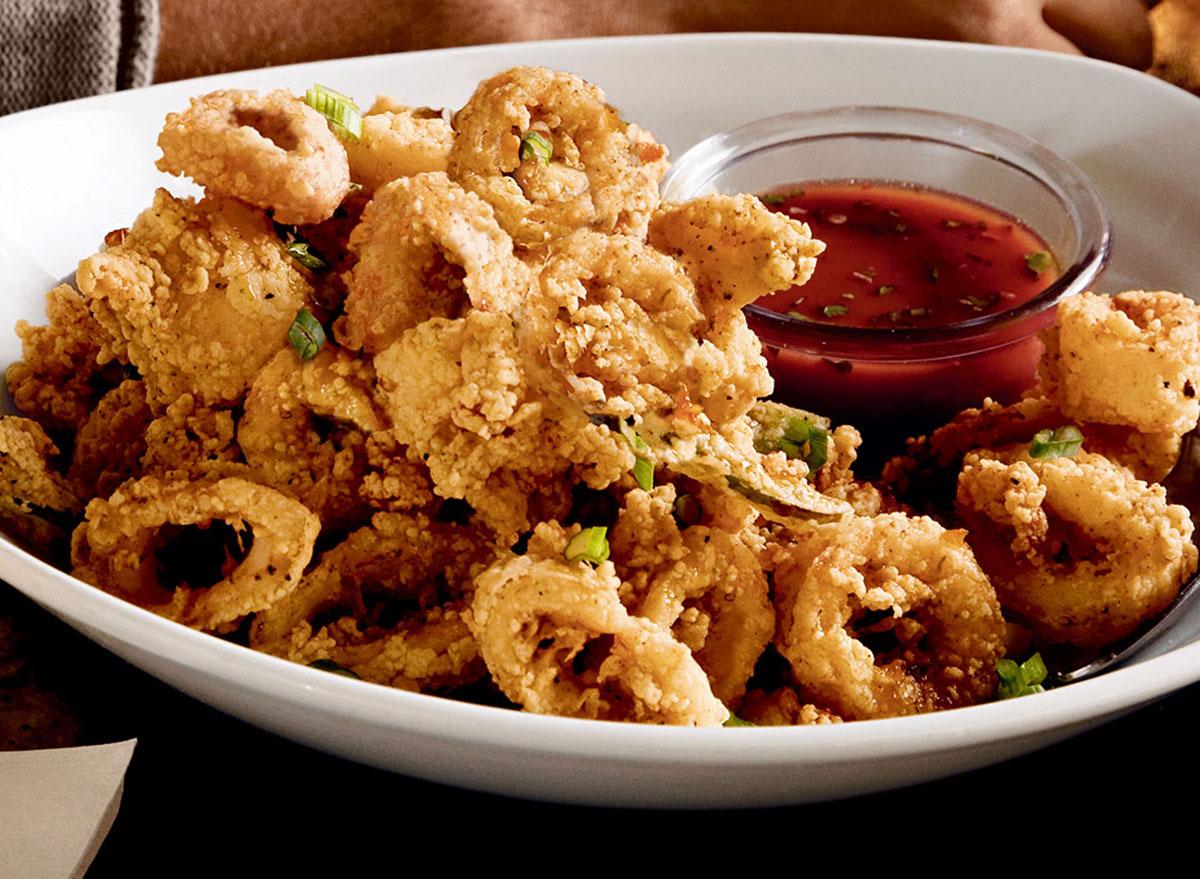 bonefish grill calamari with sauce on plate