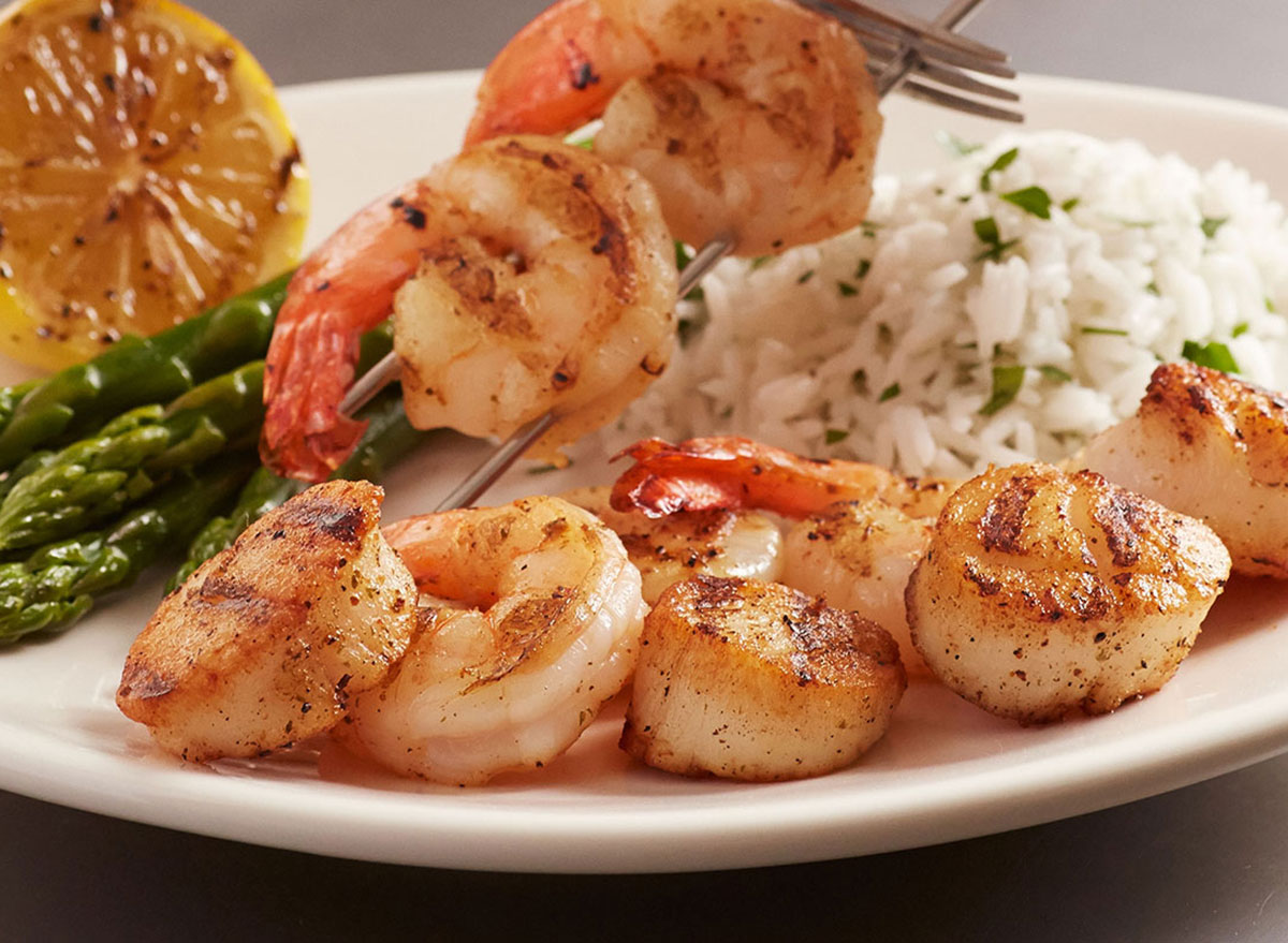 bonefish grill scallops and shrimp with rice