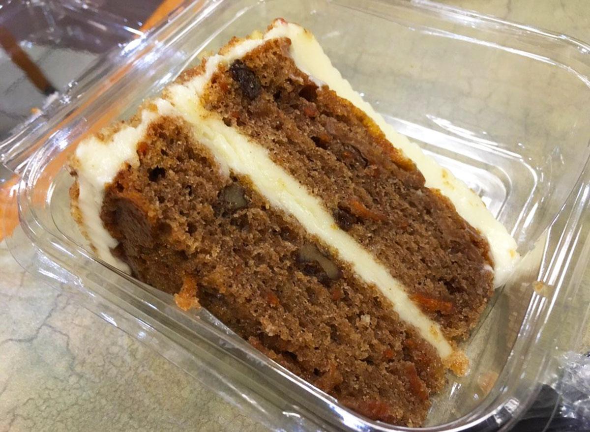 boston market carrot cake slice