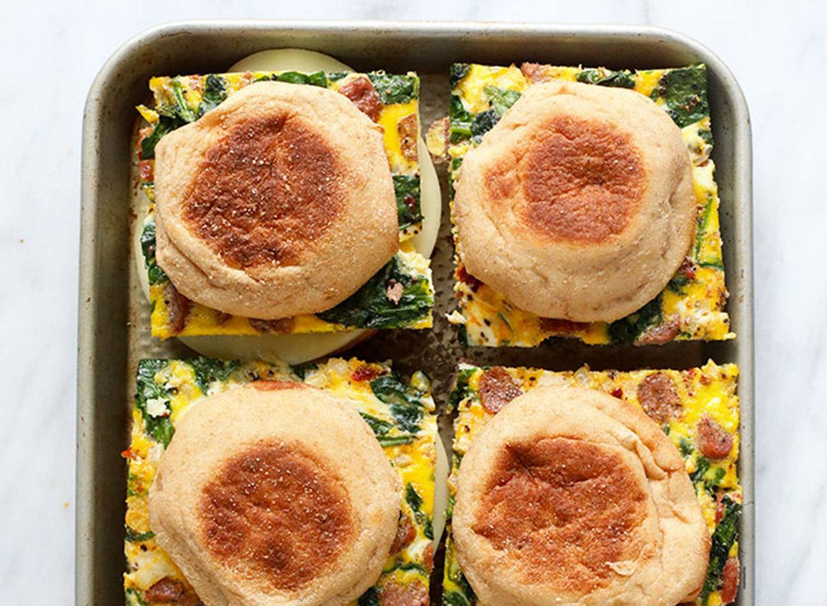 Breakfast muffins with egg bake prepped for the week