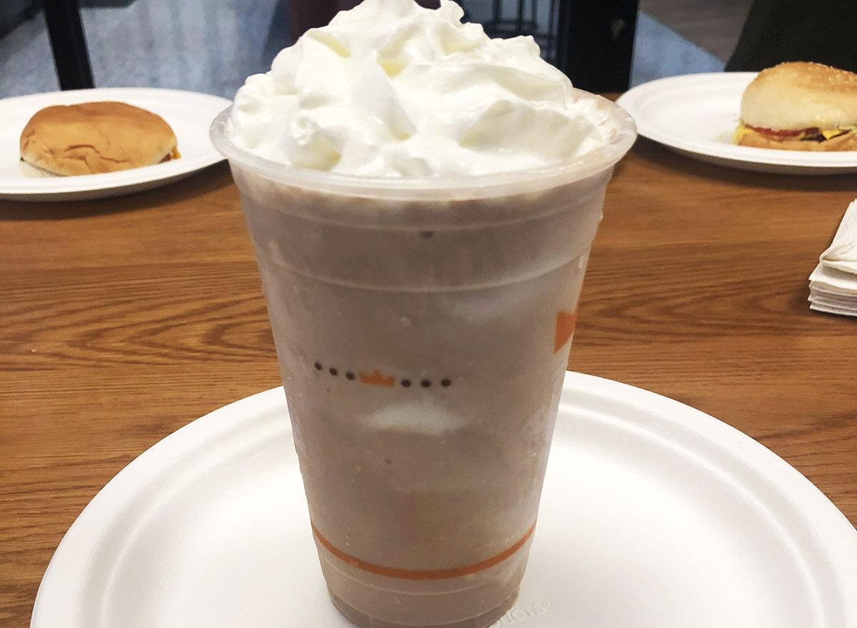 burger king chocolate shake