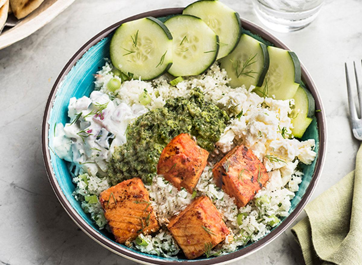 cauliflower rice bowl zoes kitchen