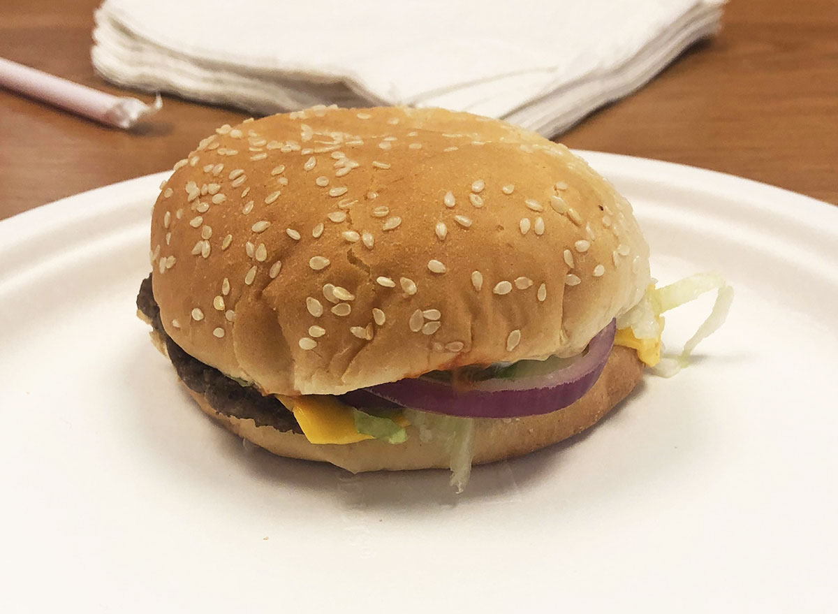 checkers cheeseburger