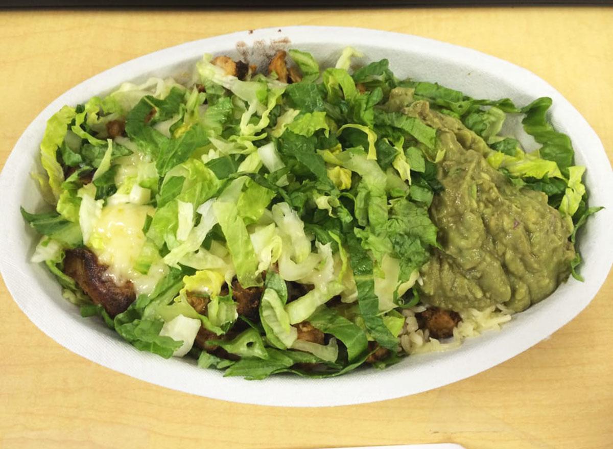 chipotle veggie salad bowl