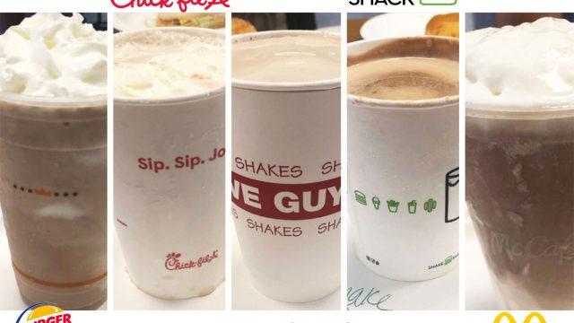 chocolate milkshake taste test