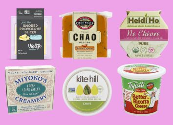 Variety of dairy free cheeses for those who are vegan