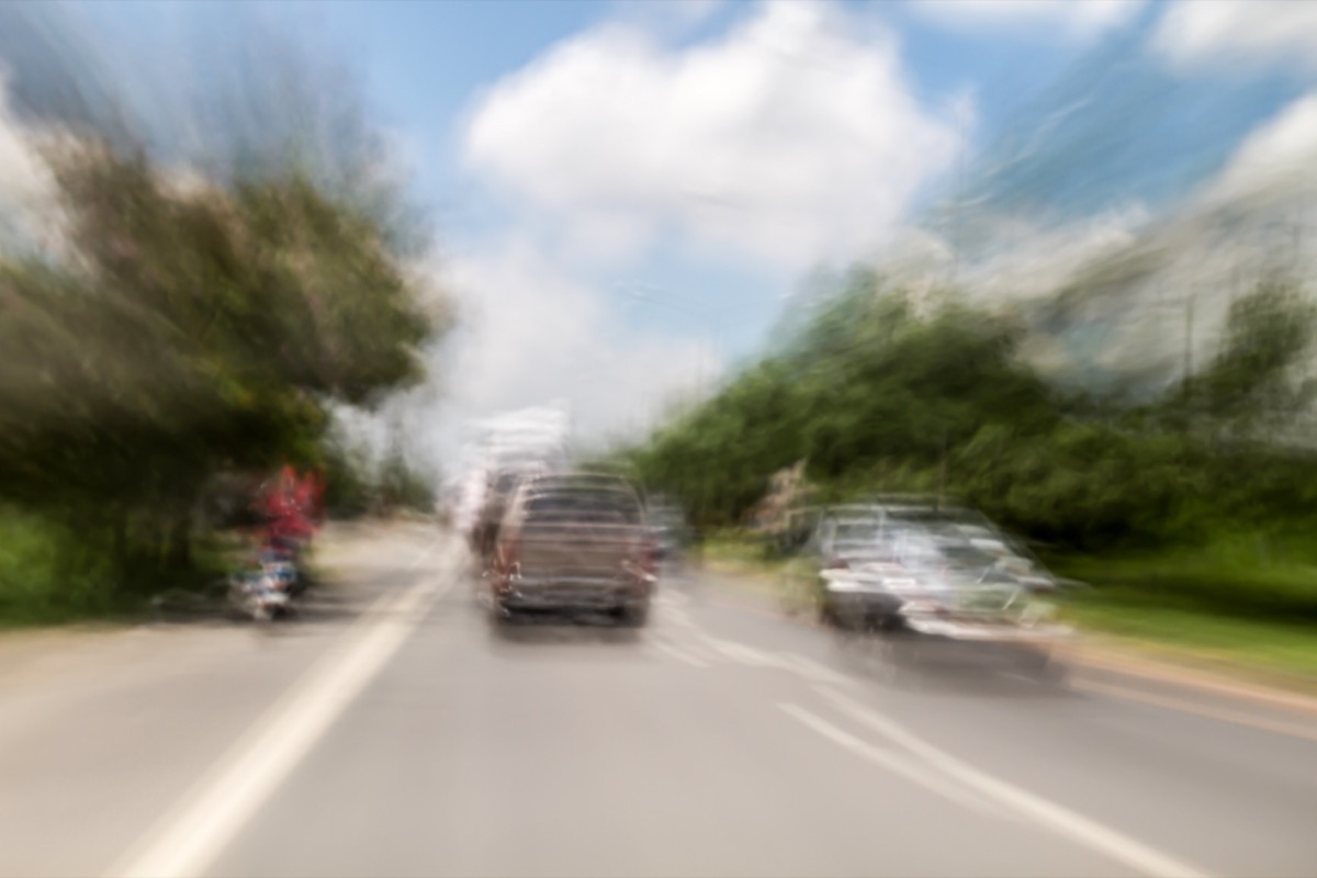 Blurred and double vision while driving