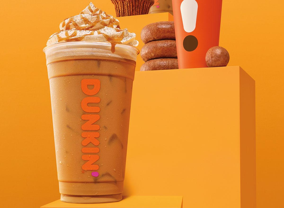 dunkin iced pumpkin latte