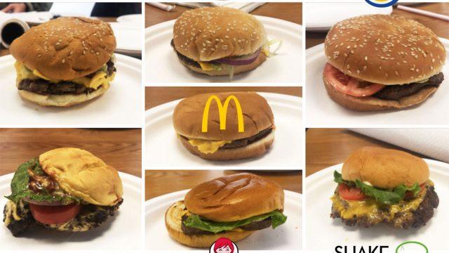 fast food cheeseburger taste test