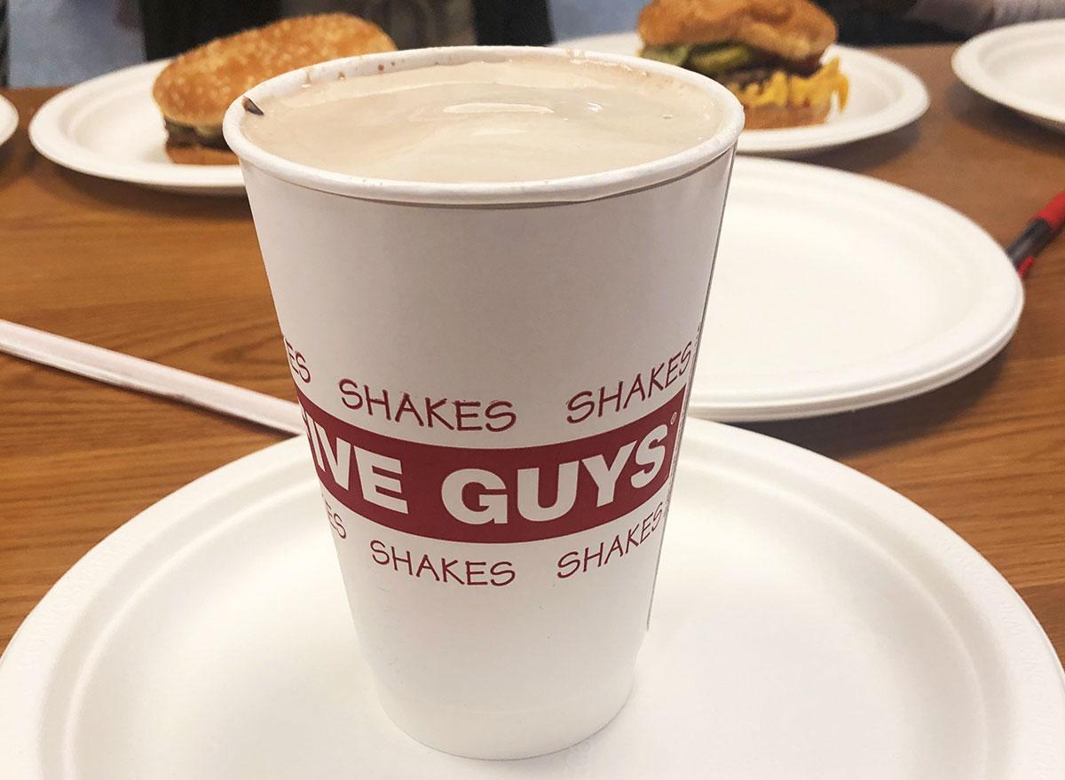 five guys chocolate shake