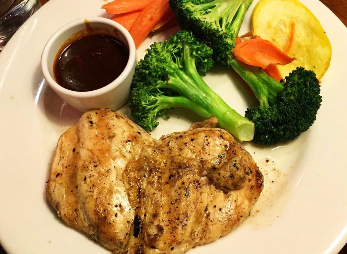 grilled chicken with mixed vegetables from outback steakhouse
