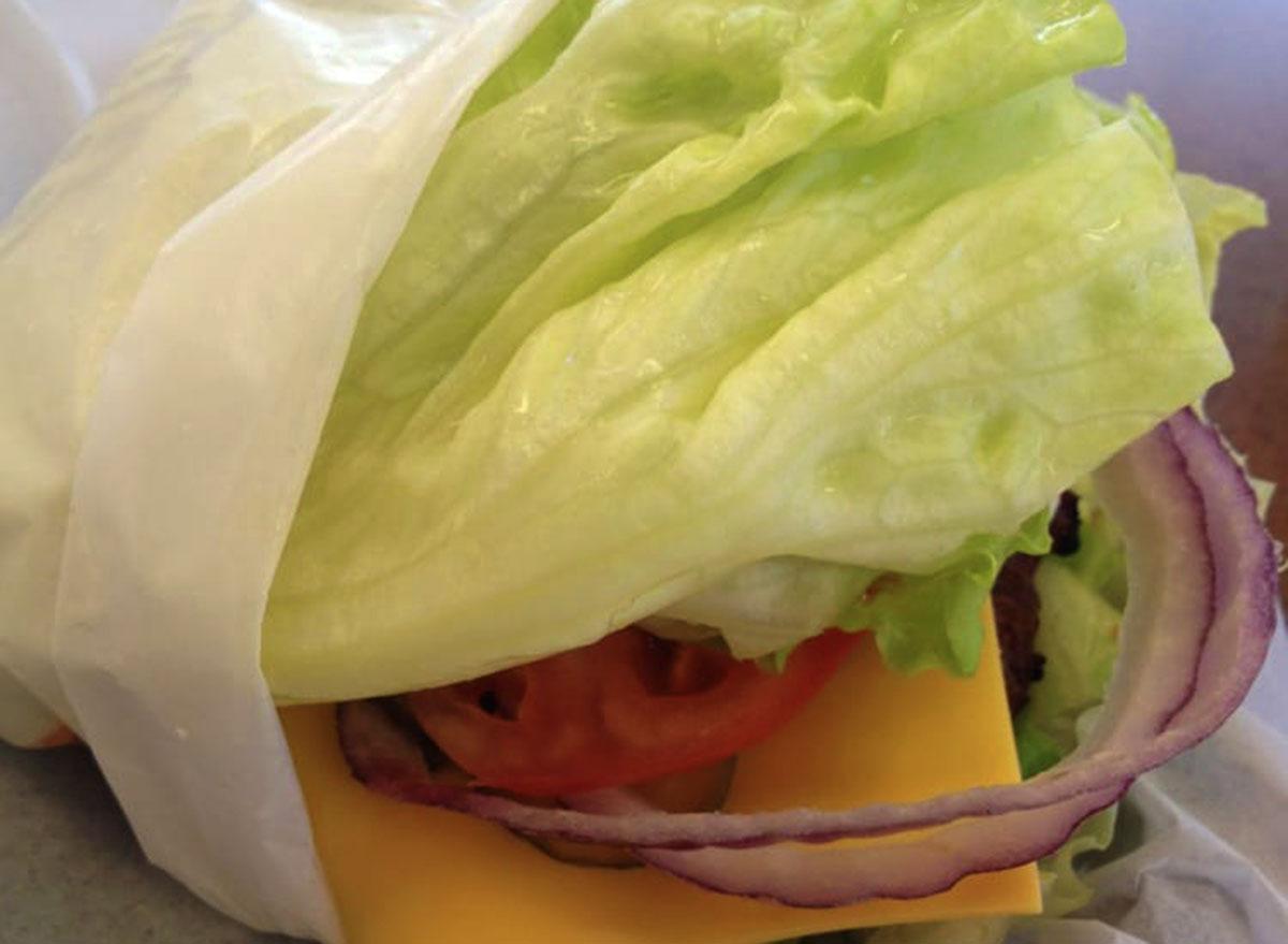 hardees chicken club sandwich lettuce wrap