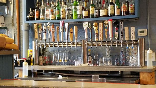 bar with tap beer at humboldt haus chicago illinois