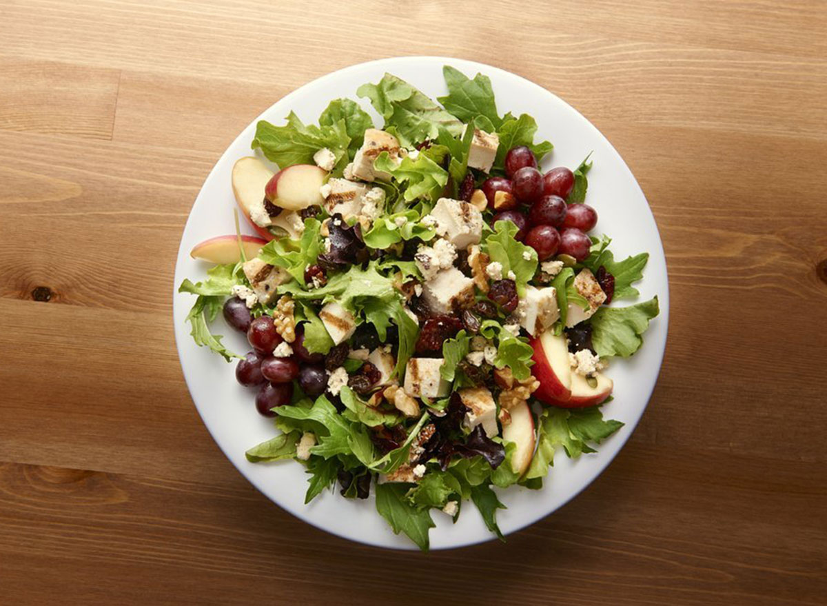 jasons deli lighter nutty mixed up salad on a plate