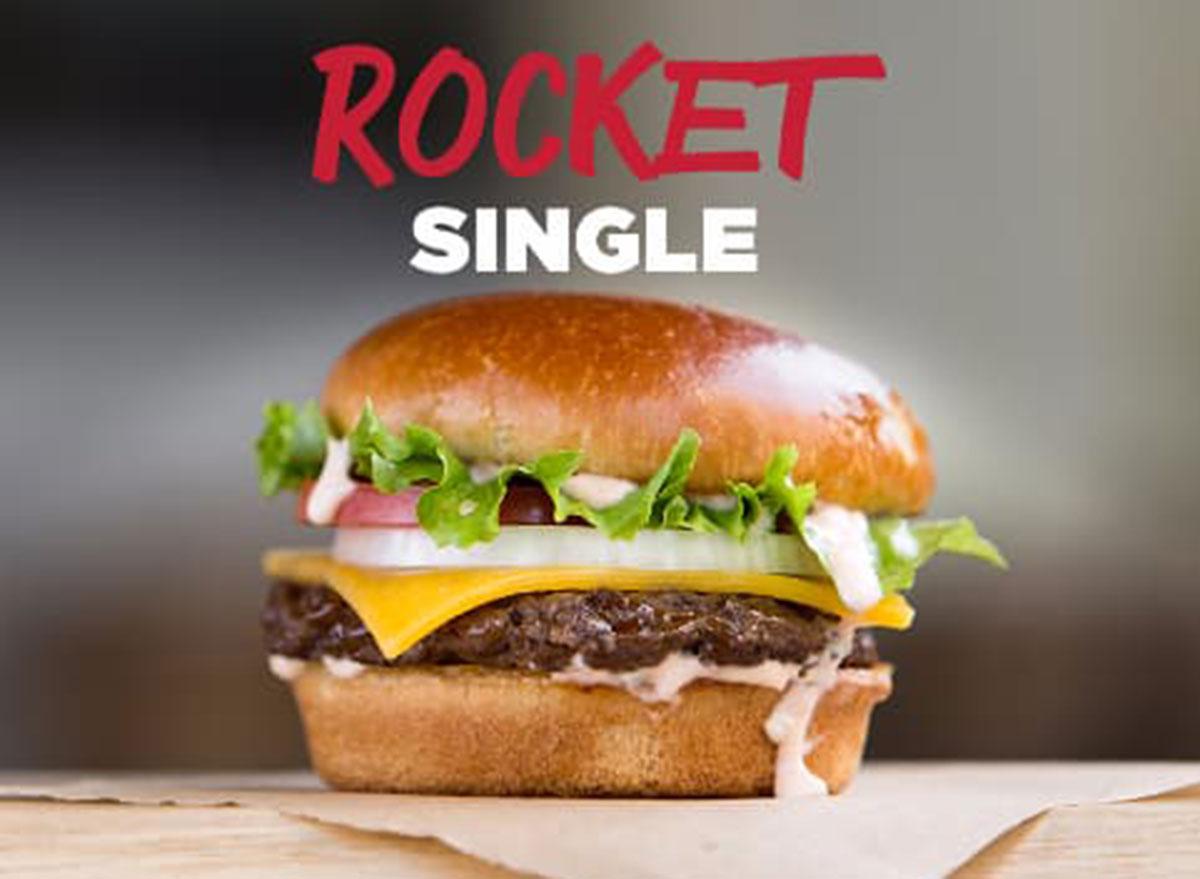 johnny rockets rocket single burger