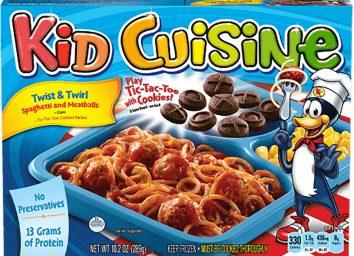 kid cuisine spaghetti and meatballs