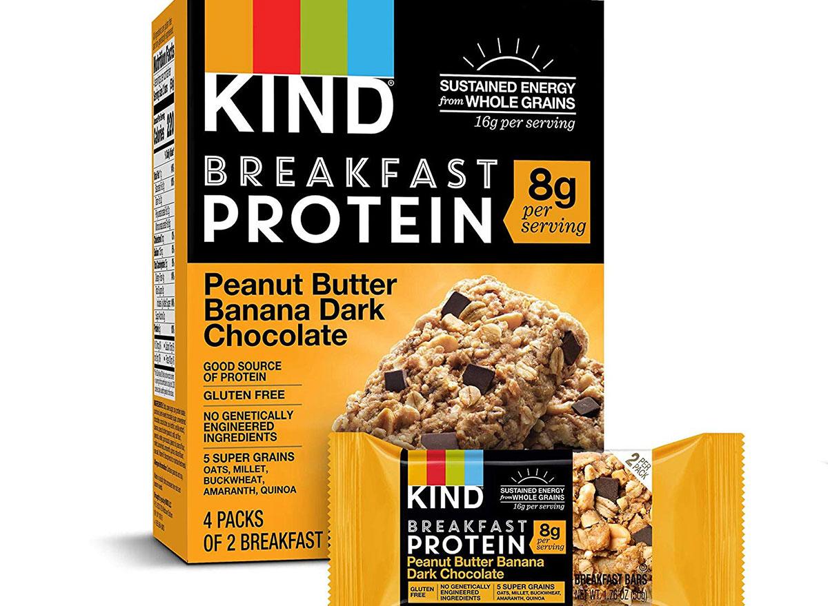 kind protein breakfast bar in box