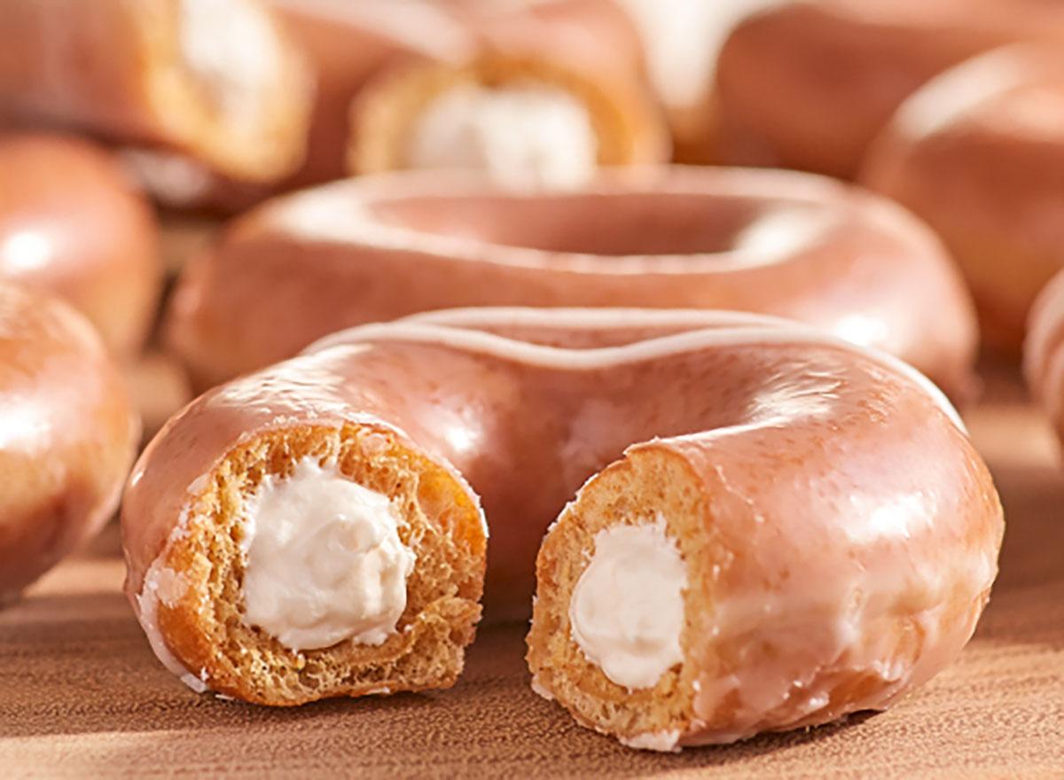 krispy kreme pumpkin spice cheesecake donut