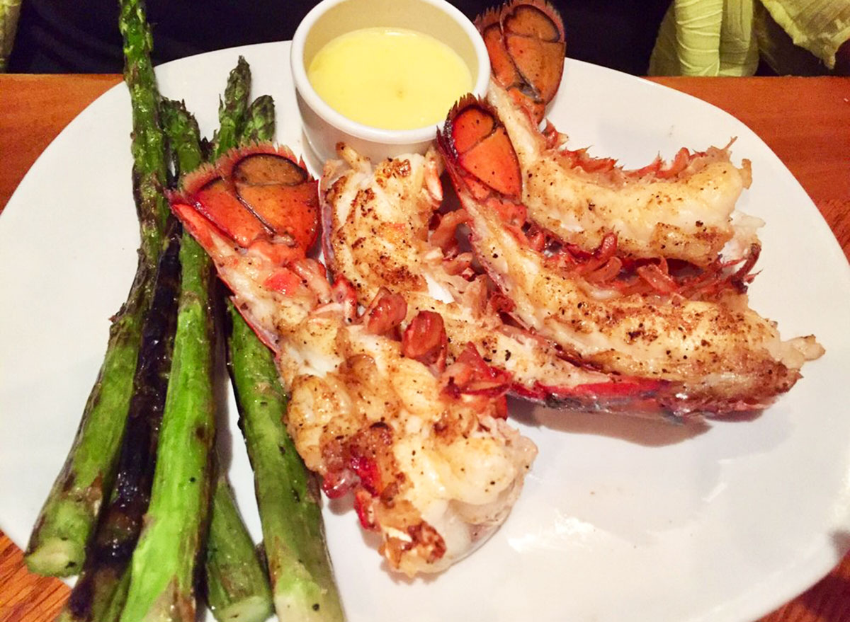 lobster tails entree from outback steakhouse