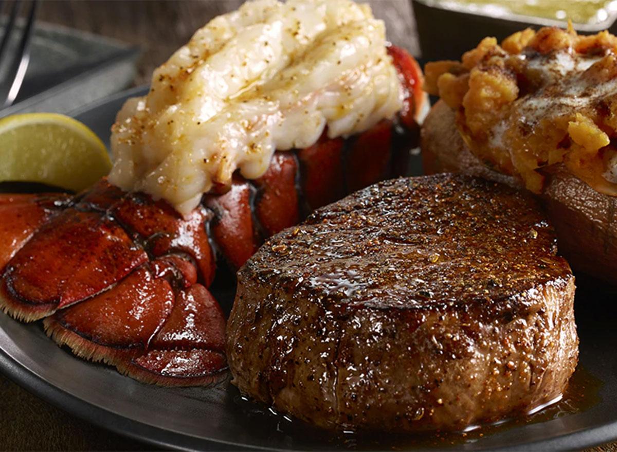 longhorn steakhouse flo filets lobster tail