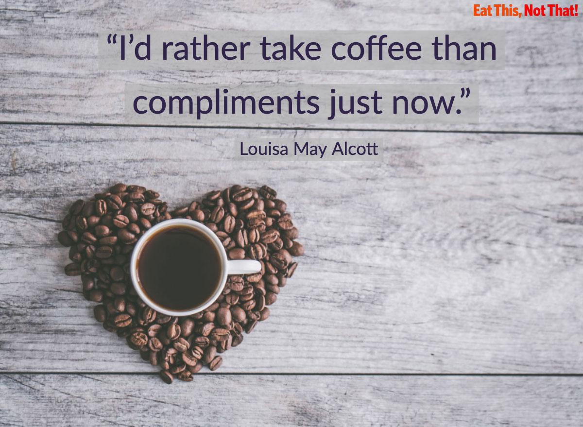 coffee quote louisa may alcott little women