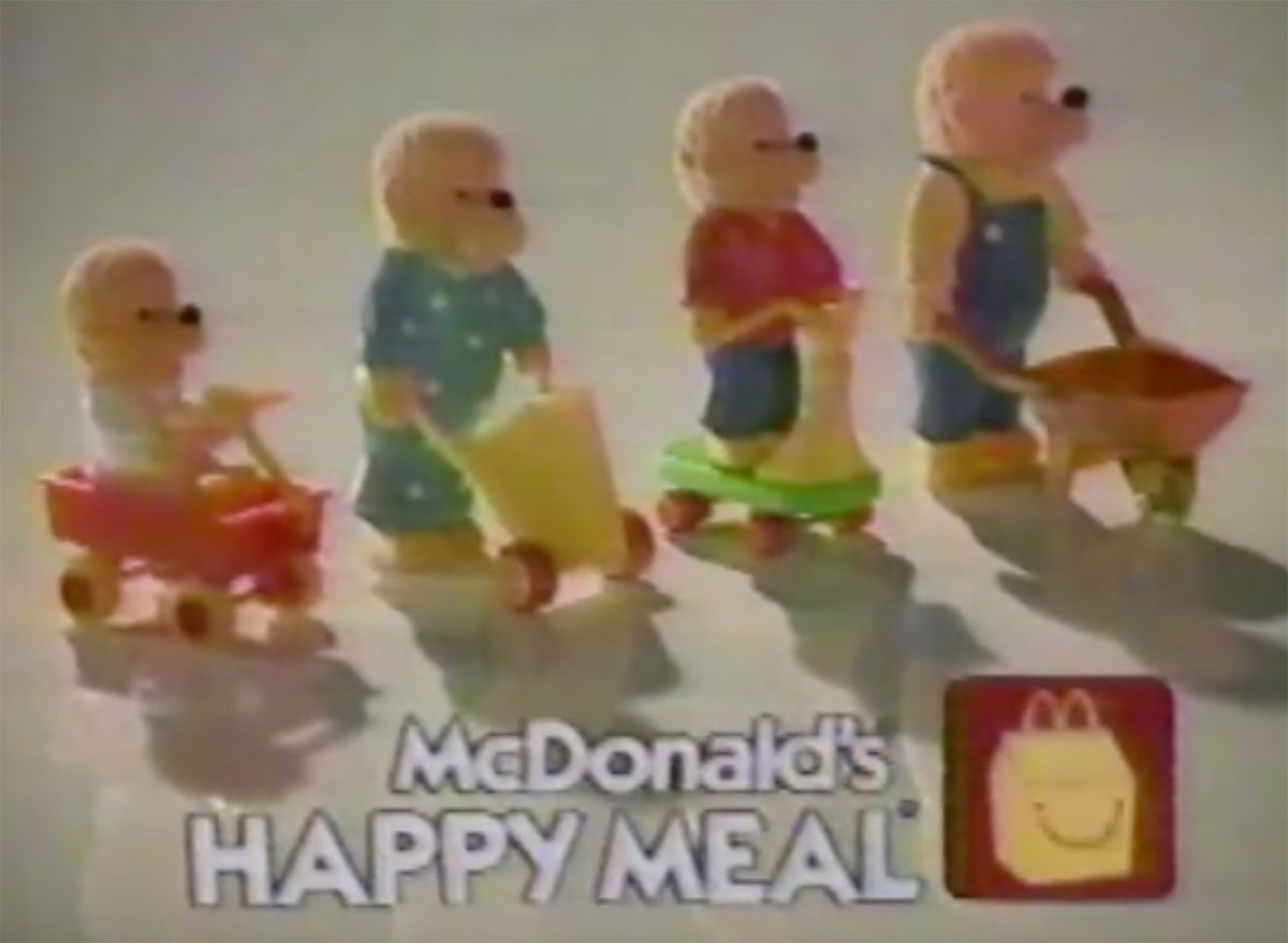 mcdonalds berenstain bears happy meal toys