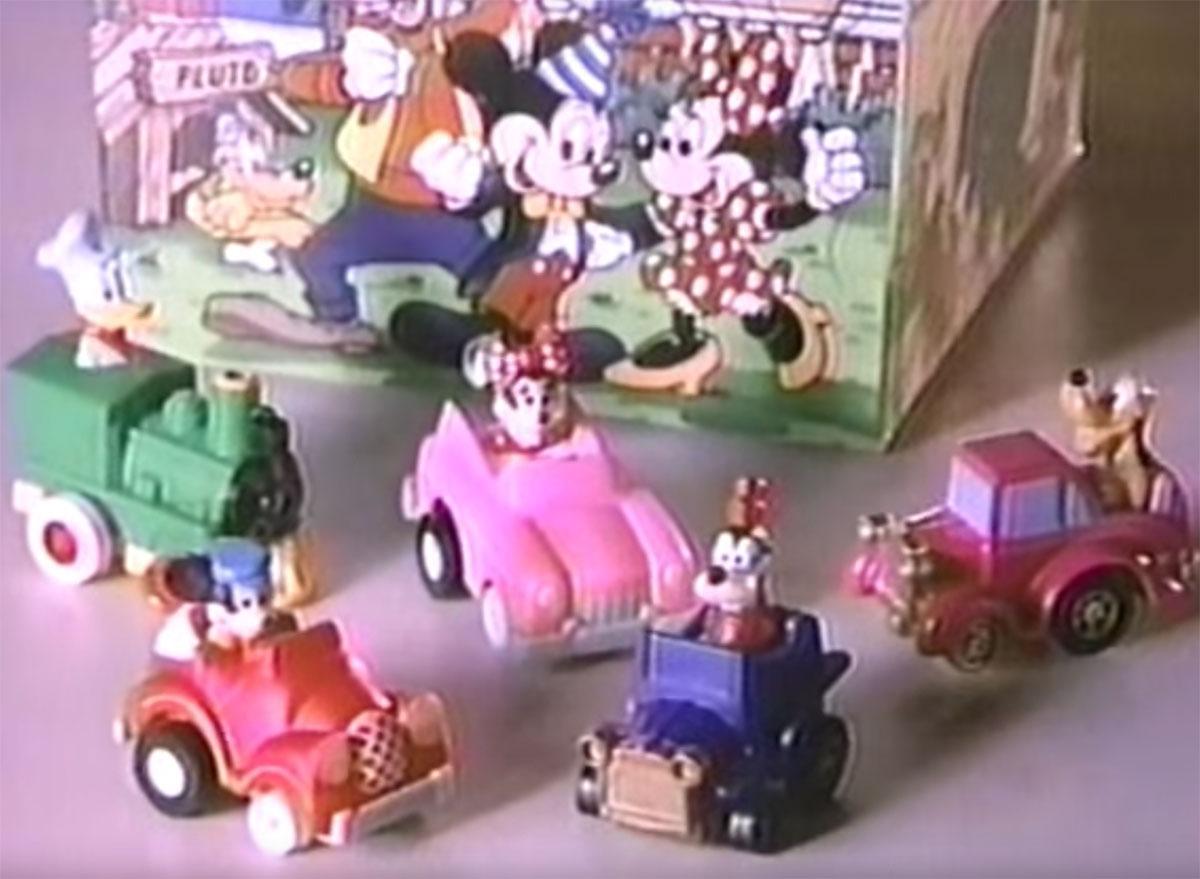 mickey birthdayland racers happy meal toys