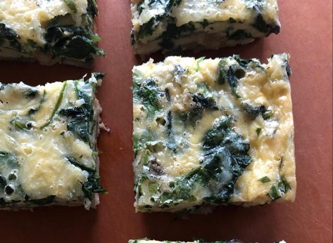 mushroom kale and caramelized onion keto breakfast casserole
