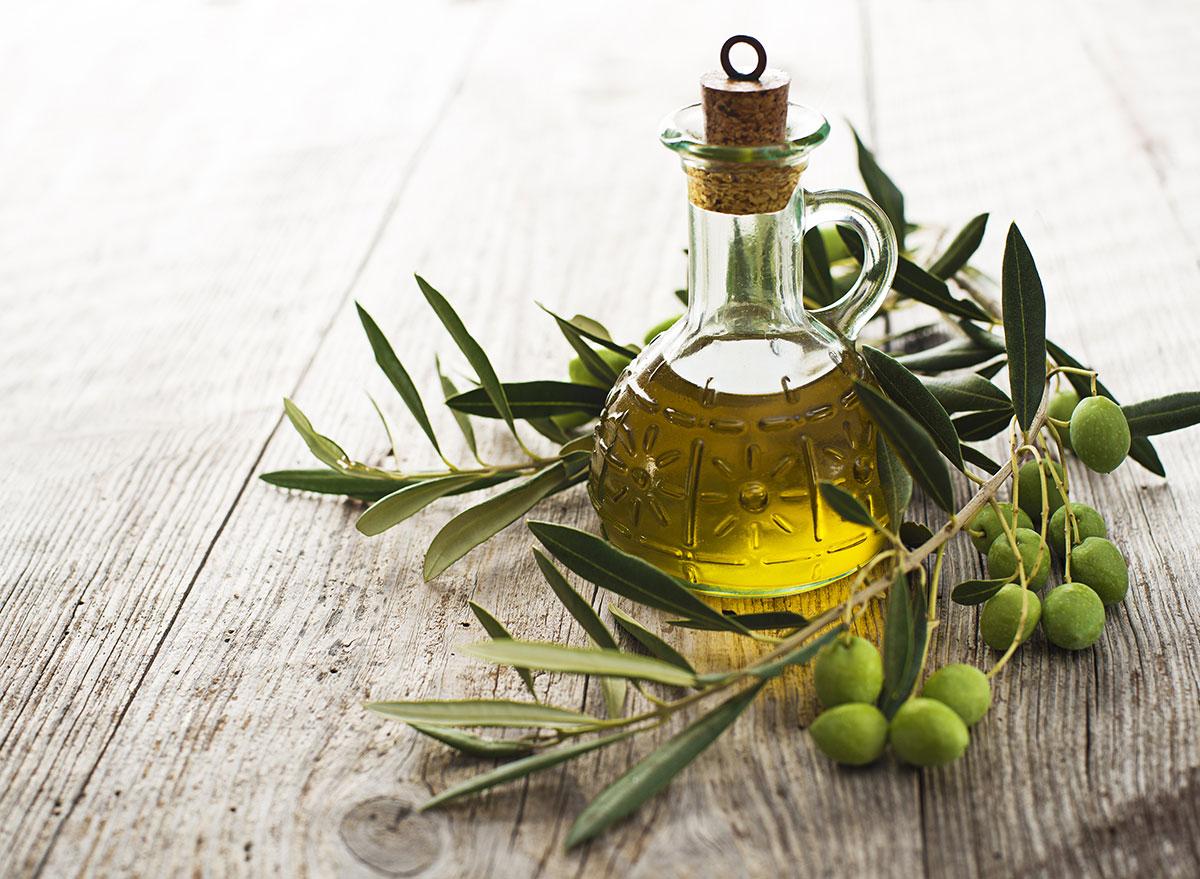 olive oil in jar