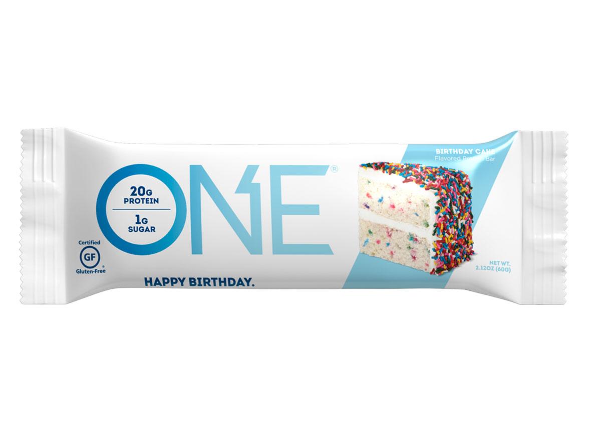 one bar birthday cake protein bar