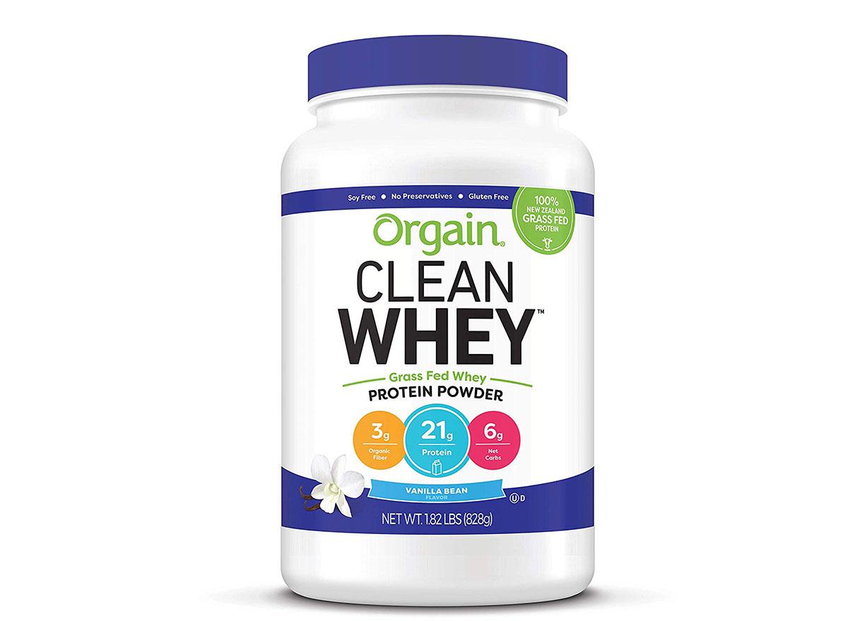 orgain clean whey protein powder