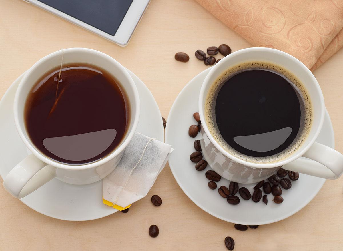 paleo tea and coffee in mugs