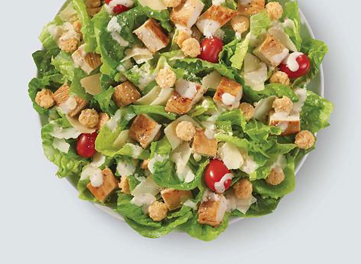 parmesan chicken caesar salad wendys