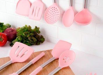 pink kitchen utensils, millennial pink kitchen accessories