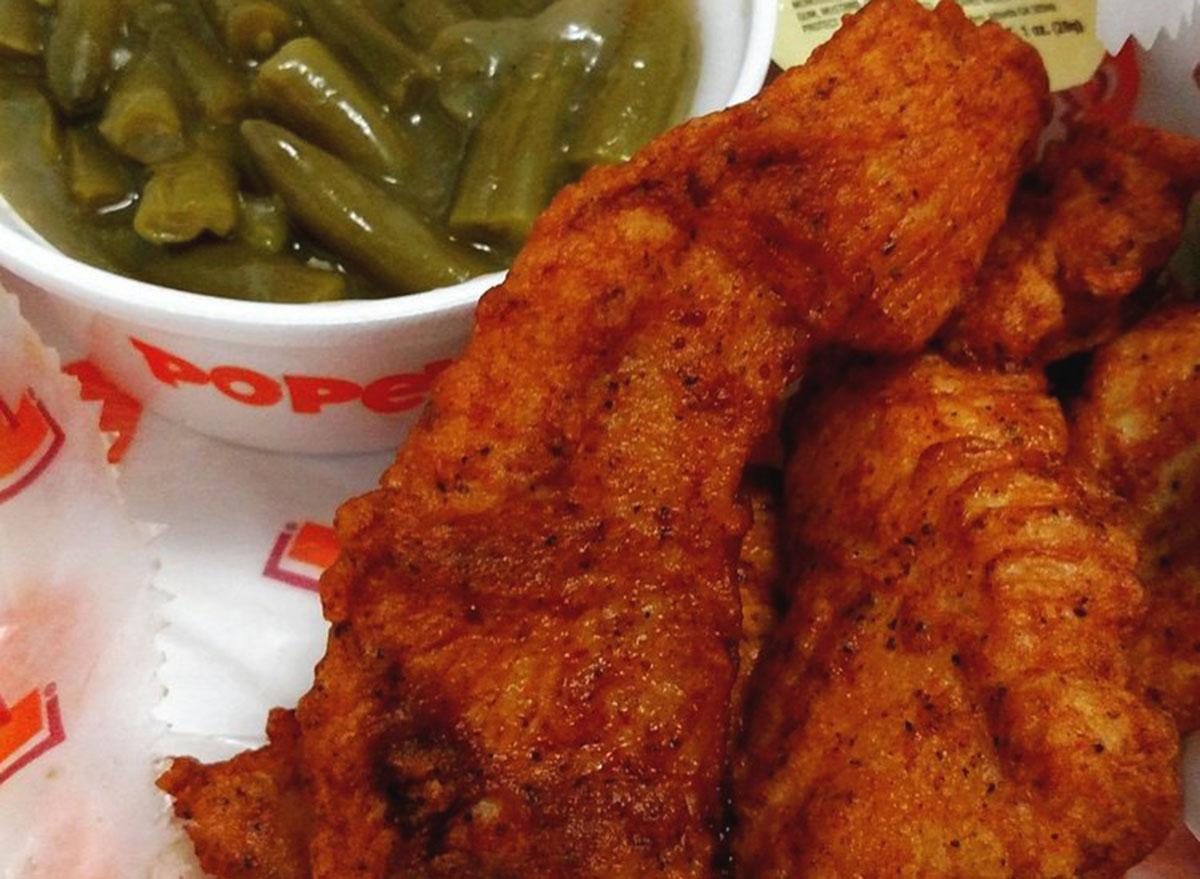 popeyes blackened chicken tenders