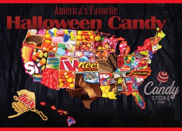 Map of the most popular Halloween candy in every state
