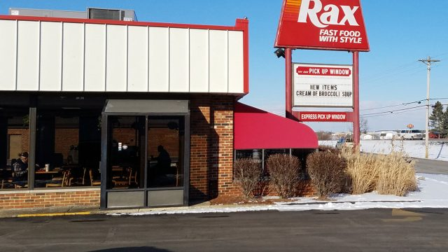 rax roast beef restaurant storefront