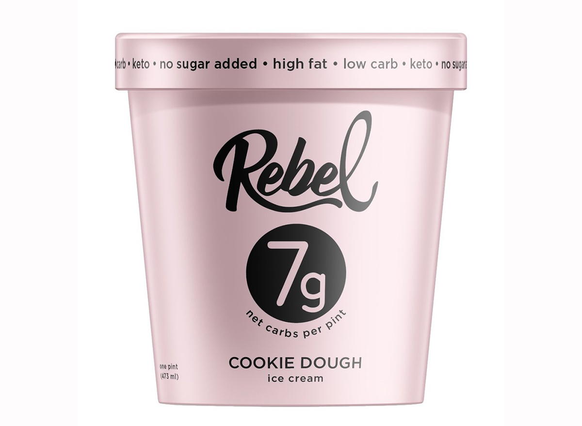 rebel-creamery cookie dough keto ice cream