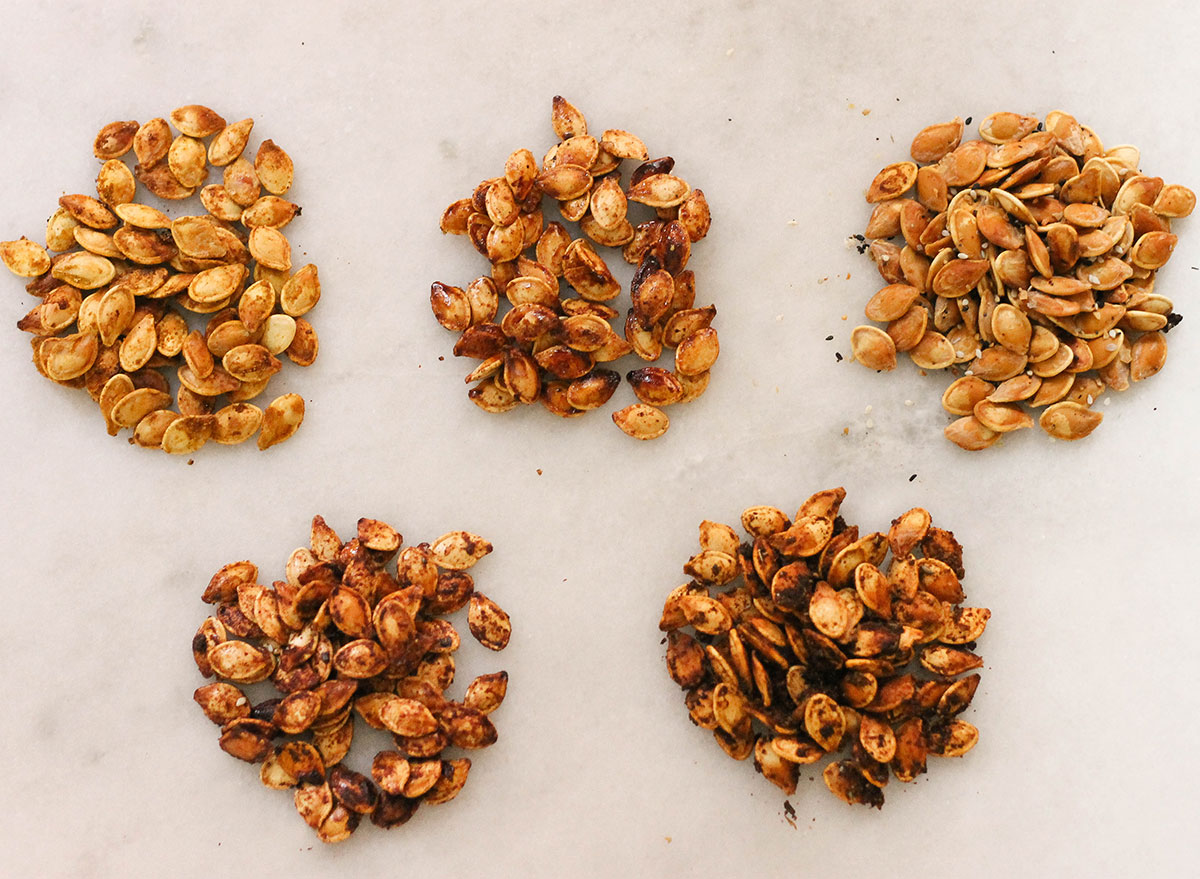 Five different ways to make roasted pumpkin seeds