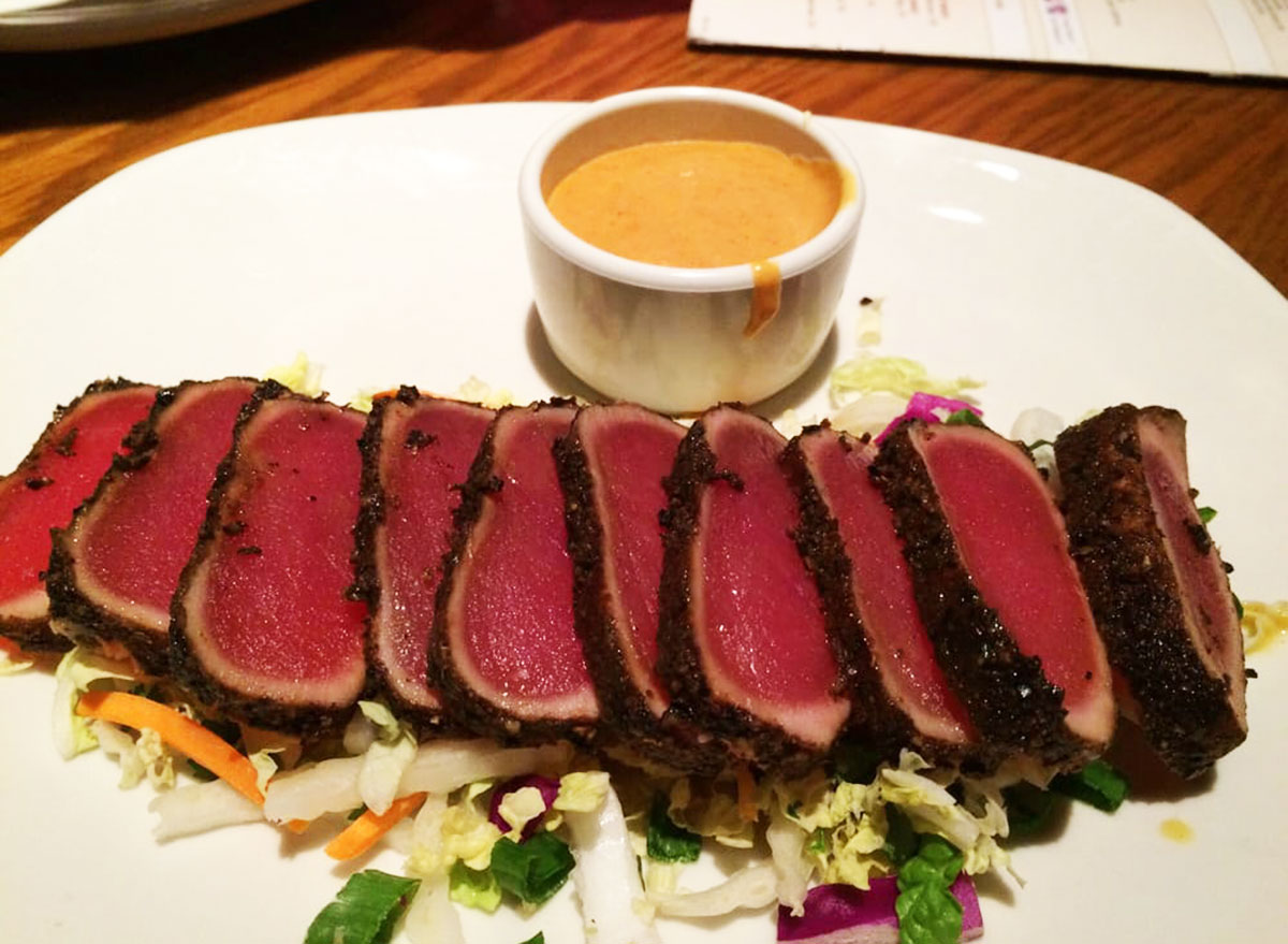 seared peppered ahi tuna from outback steakhouse