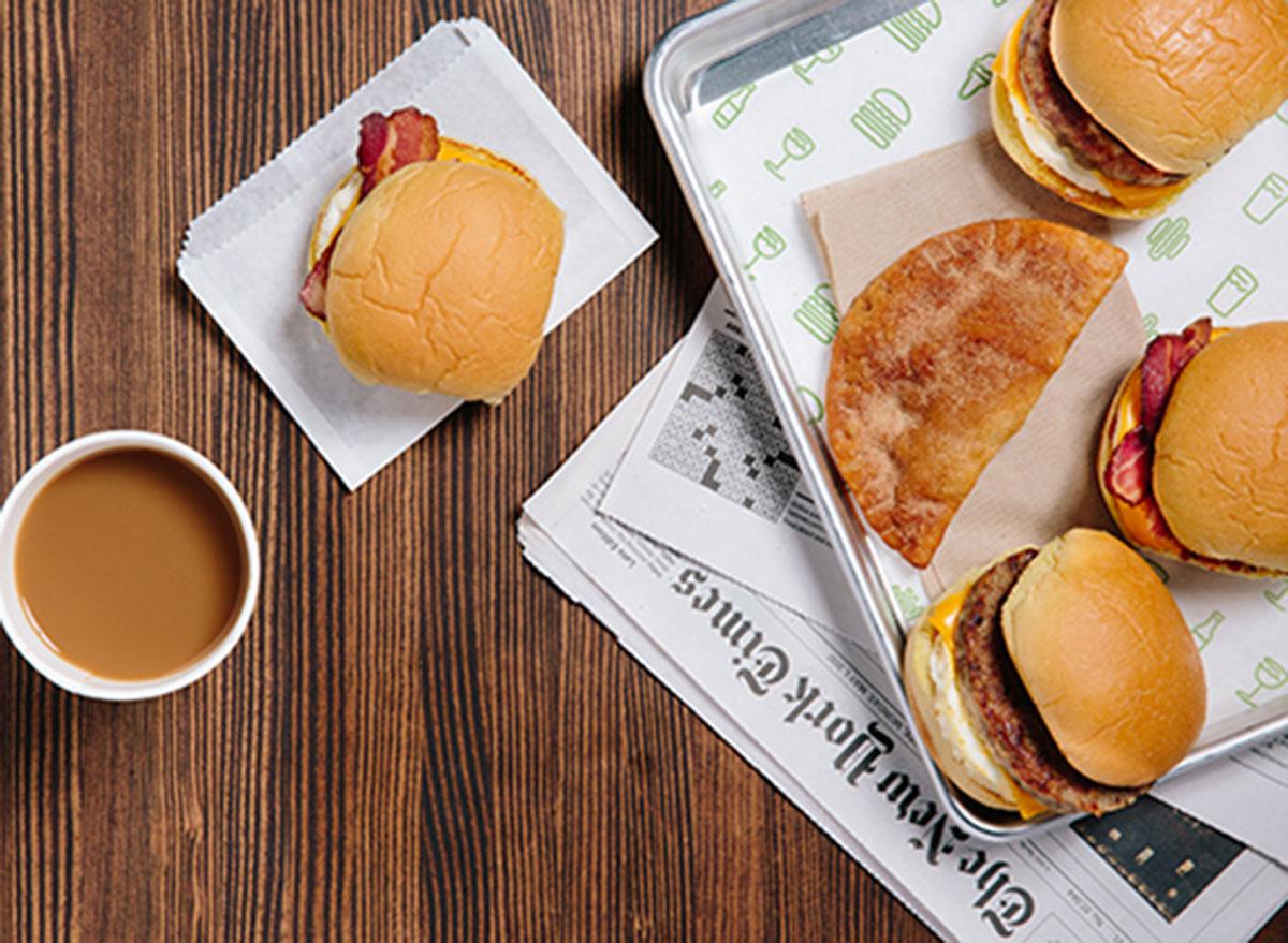 shake shack sausage breakfast sandwich